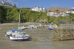 Newquay Harbour in Cornwall, England Royalty Free Stock Photos