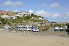 Newquay Harbour in Cornwall, England Royalty Free Stock Photography