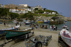 Newquay Harbour Cornwall Stock Photo