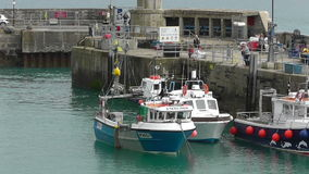 NEWQUAY HARBOUR, CORNWALL, UK stock footage