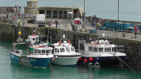 NEWQUAY HARBOUR, CORNWALL, UK stock video footage