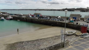 NEWQUAY HARBOUR, CORNWALL, UK stock video