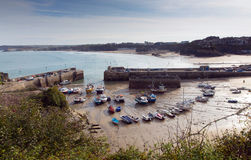 Newquay harbour North Cornwall England UK Royalty Free Stock Photos