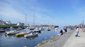 Aberaeron Harbour in wales uk stock images