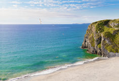 Newquay ocean beach in Cornwall, England Royalty Free Stock Image