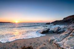 Newquay plaży zmierzch obrazy stock