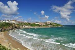 Newquay-Strand, Cornwall, England, Großbritannien Lizenzfreie Stockfotos