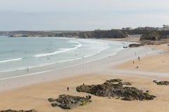 Newquay-Strand Nord-Cornwall England Großbritannien Lizenzfreie Stockfotos