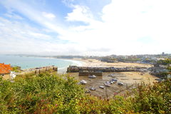 Newquay is a town, civil parish, seaside resort and fishing port in Cornwall, England Royalty Free Stock Photography