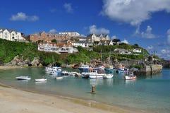 Newquay visserijhaven, Cornwall, Engeland, het UK Royalty-vrije Stock Afbeelding