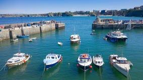 Newquayhaven in Cornwall, Engeland Stock Afbeeldingen