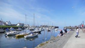 Newquayhaven in Wales het UK stock afbeeldingen