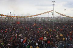 Newroz σε Diyarbakir, Τουρκία Στοκ Εικόνες