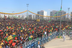 Newroz σε Diyarbakir, Τουρκία Στοκ εικόνες με δικαίωμα ελεύθερης χρήσης
