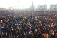 Newroz in Diyarbakir, die Türkei Stockfotos
