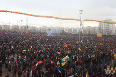 Newroz in Diyarbakir,Turkey. Royalty Free Stock Images