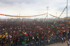 Newroz en Diyarbakir, Turquía Foto de archivo libre de regalías