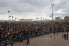 Newroz i Diyarbakir, Turkiet Arkivfoton