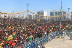Newroz i Diyarbakir, Turkiet Royaltyfria Bilder