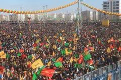 Newroz i Diyarbakir, Turkiet Fotografering för Bildbyråer