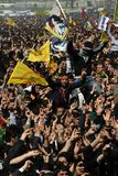 Newroz in Istanbul. ISTANBUL - MARCH 21: Newroz was celebrated by Kurds on March 21, 2010 in Istanbul, Turkey Stock Photos