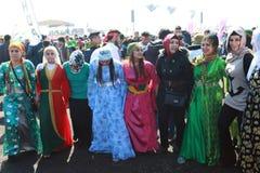 Newroz in Istanbul, die Türkei Stockbilder
