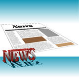 News. Abstract colorful background with newspaper and the word news written with capital letters Royalty Free Stock Images