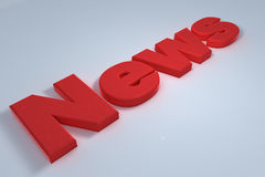 News. Red news letter lying on floor Royalty Free Stock Photography