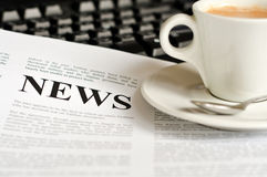 News. Abstract idea for reading the news Stock Photography