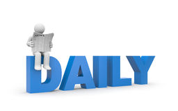Daily news Royalty Free Stock Image