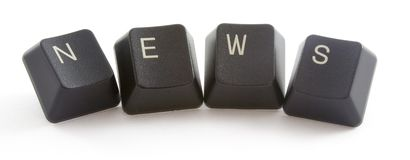 News. Formed by keys of a computer keyboard Stock Photography