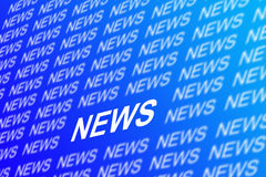 News. Concept image on a blue background Stock Photography