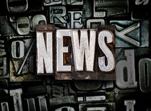 News. Made from metal letters royalty free stock photo