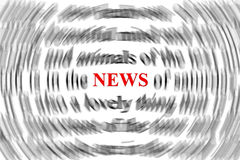 News. Concept. The focus is only on the word  , in red. Other words are blurry Stock Photography