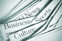News. Daily News -Business, Sport, Culture Stock Photography