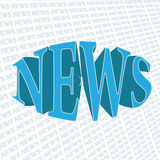 News. 3d text on a printed background Royalty Free Stock Image