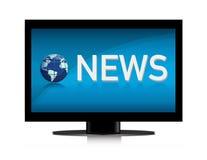 NEWS. Illustration of TV showing NEWS on screen illustration design Stock Photo