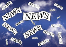 News. Are flying on the sky vector illustration
