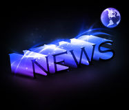 News. 3d colorful news text with globe eps10 Royalty Free Stock Image