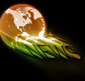 News. 3d colorful news text with globe eps10 Royalty Free Stock Photo