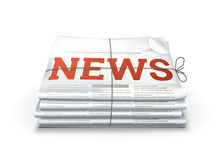 News. Computer illustration on a white background Stock Images