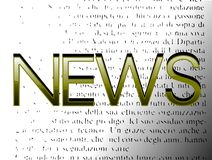 Word News on abstract background royalty free stock photography