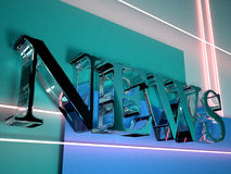 News 3D logo Royalty Free Stock Image