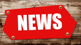 News. 2D illustration of a  news sign Royalty Free Stock Photos