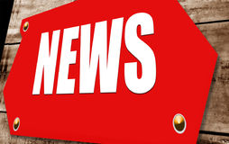 News. 2D illustration of a  news sign Stock Photos