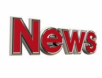 News. 3d illustration of the news simbol Royalty Free Stock Photo