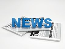 News. 3d news on newspaper digital artwork Stock Image