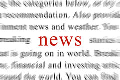 News. Latest news in the newspaper Stock Images