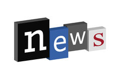News. Blocks in different colors and size Royalty Free Stock Images