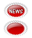 NEWS. / New information. Red icons. E-Business. paper Stock Images